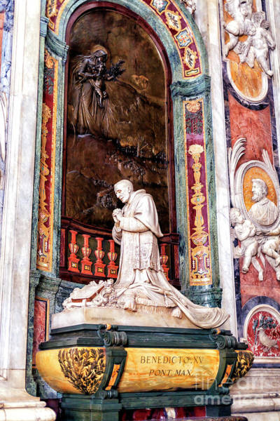 Photograph - Monument To Benedict Xv At Saint Peter's Basilica In Vatican City by John Rizzuto
