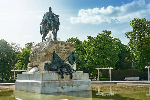 Photograph - Monument To General Arsenio Martinez Campos In Madrid, Spain by Fine Art Photography Prints By Eduardo Accorinti