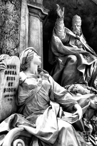 Photograph - Monument To Gregory Xiii At Saint Peter's Basilica by John Rizzuto