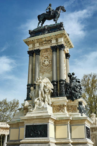 Photograph - Monument To King Alfonso Xii At Retiro Park In Madrid, Spain by Fine Art Photography Prints By Eduardo Accorinti