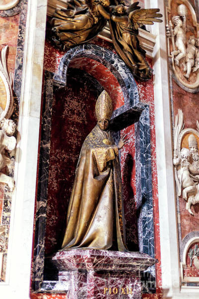 Photograph - Monument To Pius Xii At Saint Peter's Basilica In Vatican City by John Rizzuto