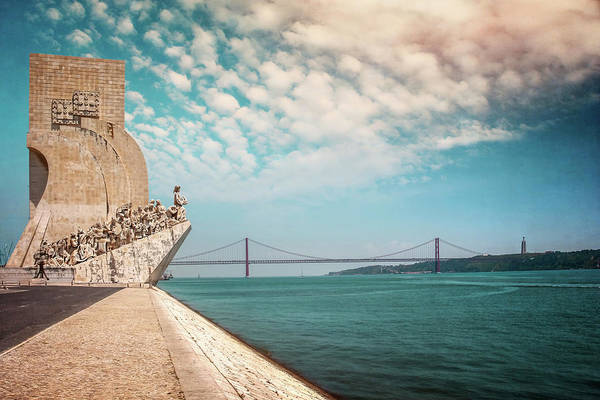 Wall Art - Photograph -  Monument To The Discoveries Lisbon Portugal by Carol Japp