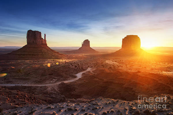 West Indian Wall Art - Photograph - Monument Valley At Sunrise by Im photo