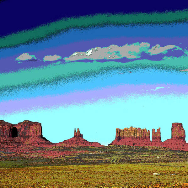Zion Mixed Media - Monument Valley by Charles Shoup