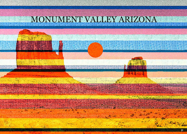 Wall Art - Mixed Media - Monument Valley Color Work A by David Lee Thompson