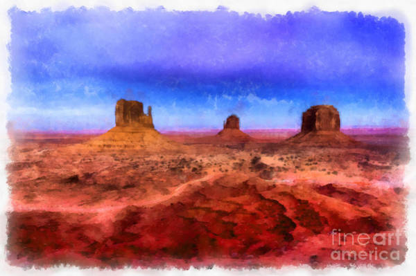 Valleys Digital Art - Monument Valley by Edward Fielding