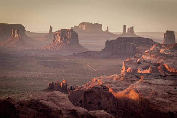 The Mitten Photograph - Monument Valley From The Hunts Mesa by Francesco Riccardo Iacomino