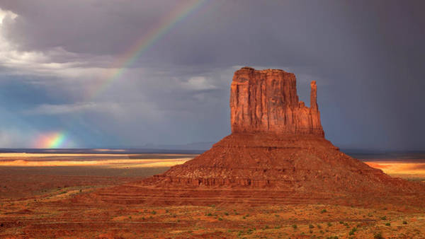 Photograph - Monument Valley Rainbow by Harriet Feagin