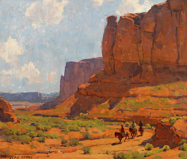 Wall Art - Painting - Monument Valley, Riverbed by Edgar Payne