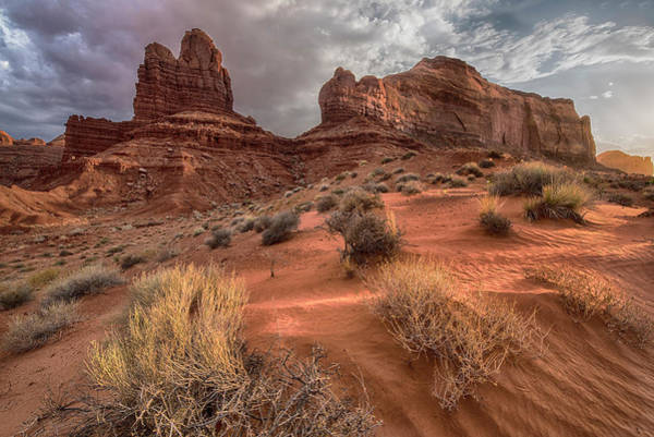 Photograph - Monument Valley Sand Dune And Rocks by Dave Dilli