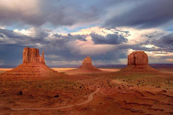 Photograph - Monument Valley Stormy Afternoon  by Harriet Feagin