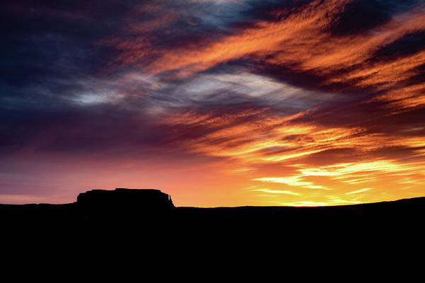Photograph - Monument Valley Sunset by William Christiansen