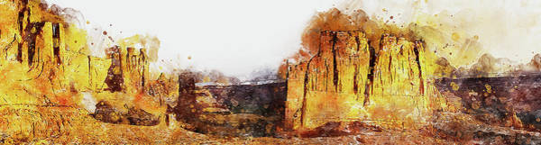 Painting - Monument Valley - Watercolor 07 by Andrea Mazzocchetti