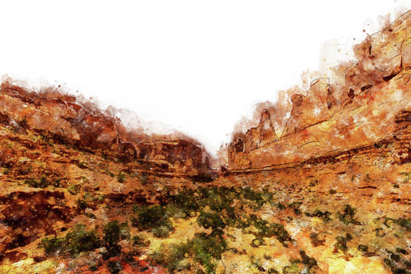Painting - Monument Valley - Watercolor 08 by Andrea Mazzocchetti