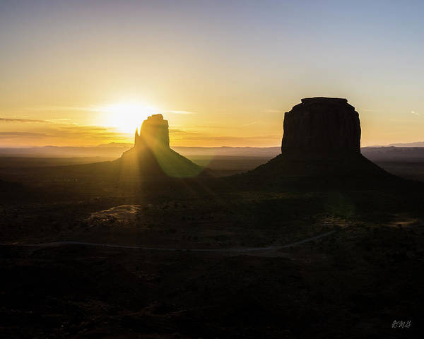 Photograph - Monument Valley Xviii Sunrise Color by David Gordon
