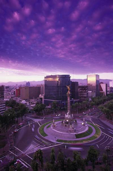 Bleached Photograph - Monumento A La Indepencia, Mexico City by Walter Bibikow