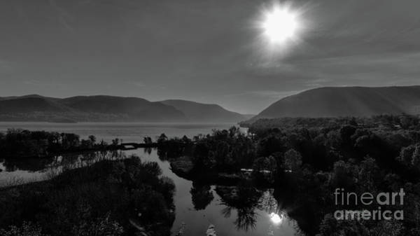 Photograph - Moodna Creek At The Hudson River In Black And White by Joe Santacroce