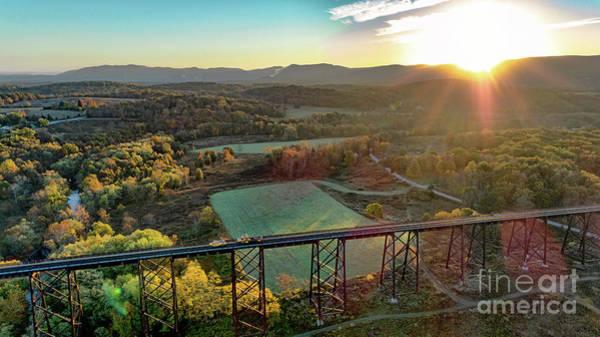 Photograph - Moodna Viaduct At Sunrise by Joe Santacroce