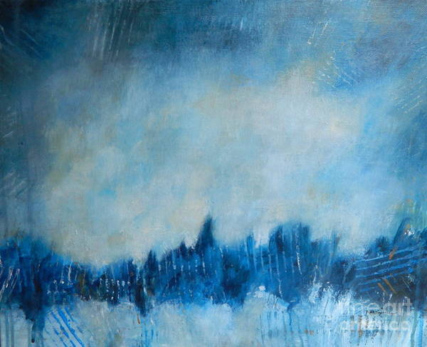 Wall Art - Painting - Moody Blues by Kate Marion Lapierre