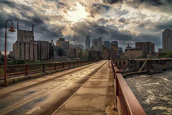 Photograph - Moody Minneapolis by Framing Places