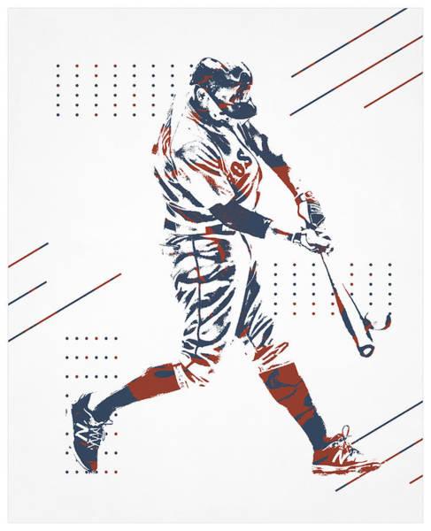 Wall Art - Mixed Media - Mookie Betts Boston Red Sox Pixel Art 101 by Joe Hamilton