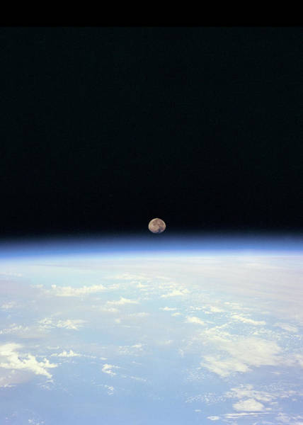 Wall Art - Digital Art - Moon Above Earth by Filip Hellman
