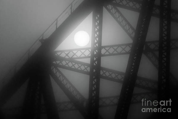 Photograph - Moon And Bridge by Randy J Heath