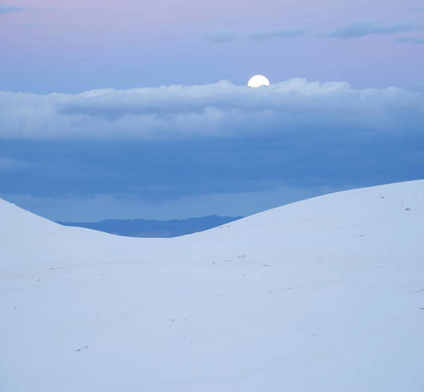 Wall Art - Photograph - Moon And Dune, White Sands Nm, New by Tim Fitzharris