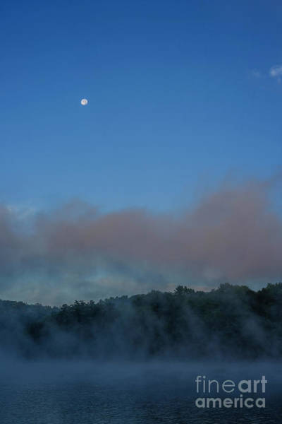 Photograph - Moon And Mist Over Lake by Thomas R Fletcher