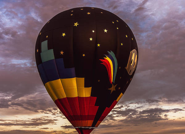 Photograph - Moon And Stars Hot Air Balloon by Keith Smith