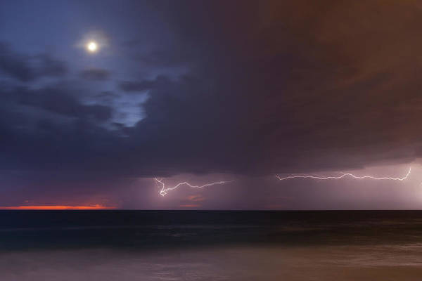 Photograph - Moon And Thunderstorm by Cliff Wassmann