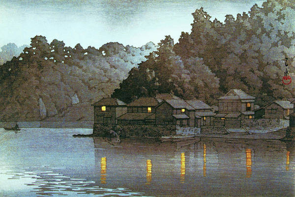 Wall Art - Painting - Moon Enoura - Digital Remastered Edition by Kawase Hasui