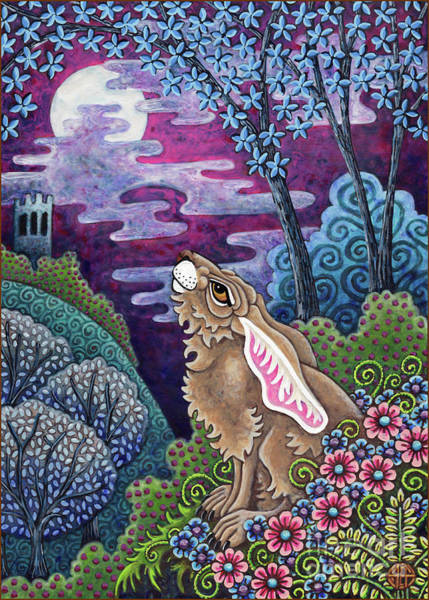 Painting - Moon Gazing Hare 3 by Amy E Fraser