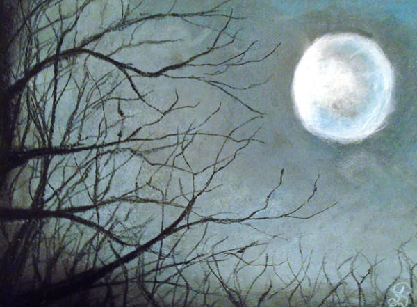 Abstract Expressionist Drawing - Moon Grip by Jen Shearer