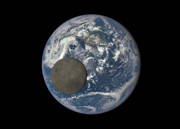 Wall Art - Digital Art - Moon In Front Of Earth by Filip Hellman