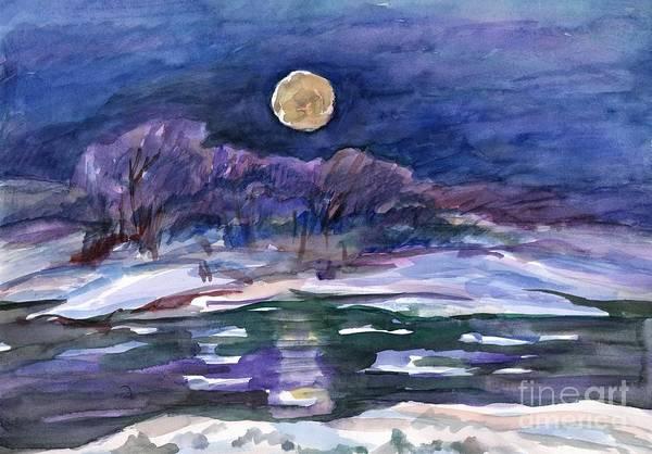 Painting - Moon Landscape by Irina Dobrotsvet