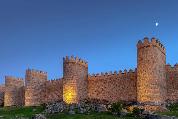 Wall Art - Photograph - Moon Over Avila by W Chris Fooshee