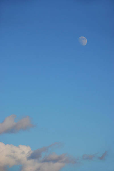 Photograph - Moon Over Cloud by Kathleen Gauthier