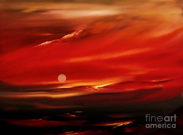 Digital Art - Moon Over Maria by Lex Halakan