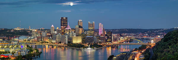 Photograph - Moon Over Pittsburgh  by Emmanuel Panagiotakis