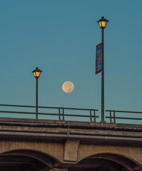 Photograph - Moon Over Rainbow Bridge by Jonathan Hansen