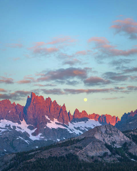 Wall Art - Photograph - Moon Over Ritter Range, Sierra Nevada by Tim Fitzharris