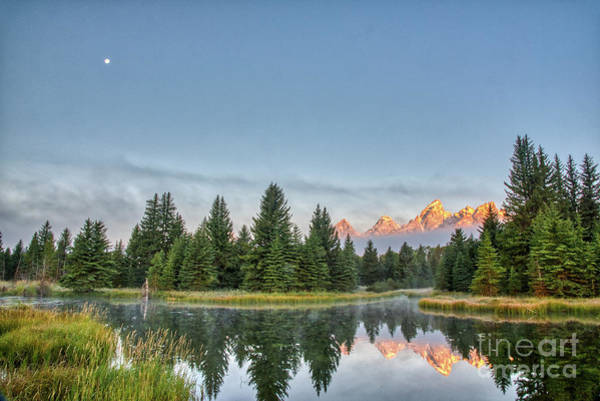 Photograph - Moon Over The Tetons by Paul Quinn