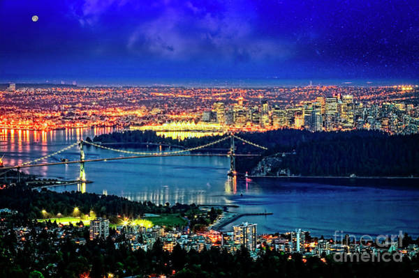 Photograph - Moon Over Vancouver by Scott Kemper