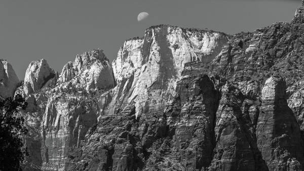 Wall Art - Photograph - Moon Over Zion by Joseph Smith