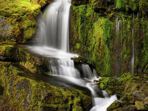 Photograph - Moon Pass Waterfall by Leland D Howard