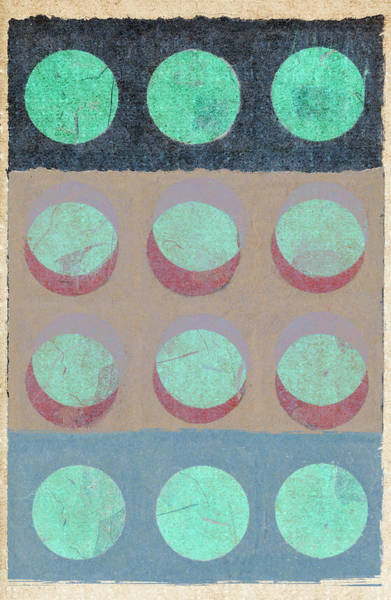 Wall Art - Mixed Media - Moon Phases 1 by Carol Leigh