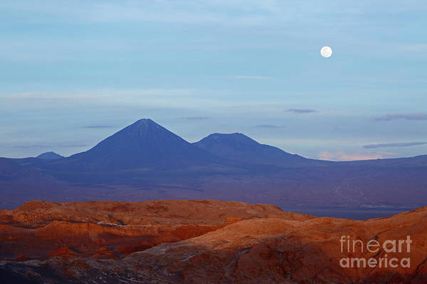 Photograph - Moon Rise Over Moon Valley Atacama Desert Chile by James Brunker