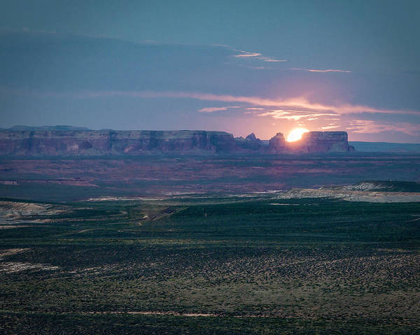 Photograph - Moon Rising Over Mesa by Laura Hedien