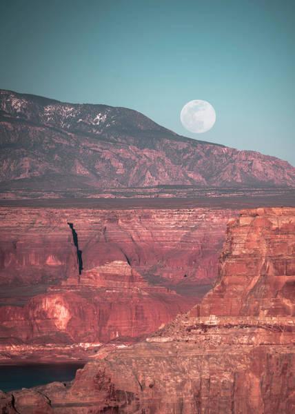 Photograph - Moon Rising Over Utah by Laura Hedien